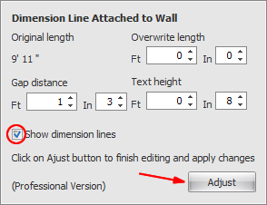 Show/Hide Dimension Lines