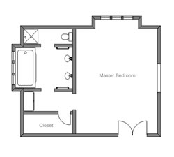 Easy to use floor plan drawing software Master bedroom plan dwg